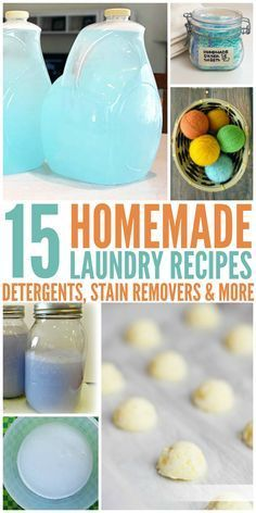 Homemade Laundry Recipes You've Gotta Try - When you want homemade but don't want to break the bank...these recipes are Perfect for you! Click now!