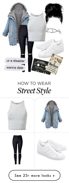 """Street style"" by erikajosefina on Polyvore featuring WithChic, EGREY, adidas Originals and American Apparel"
