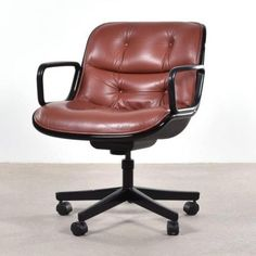 Executive Swivel Armchair by Charles Pollock for Knoll for sale at Pamono