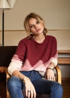 love this cute sweater - love the colors and style!