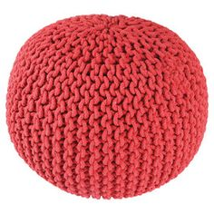 Bangalore Pouf in Red