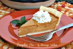 Mommy's Kitchen: Pumpkin Pie {Made with Truvia Natural Sweetener}
