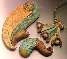 experiments with 'earthenware' technique by Jana Roberts Benzon, via Flickr