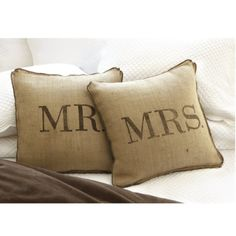 Pillows.  Could do these with family member names, last name of family, or initials too.