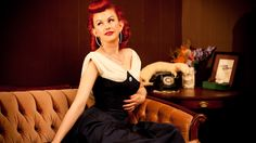 Bettina May - Passionate Pinup takes Vintage act to New York City's Burlesque Stage, originally from Victoria, British Columbia, Canada