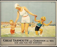 With vertical and horizontal folds, this poster for Great Yarmouth and Gorleston on Sea went for $3,500 (£2,200)