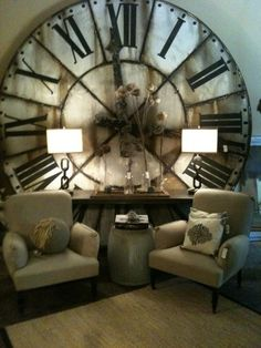 Giant antique clock. Visually stunning, can't stop looking at this. Wow.
