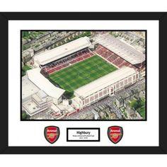 Arsenal F.C. Stadia Art Mounted Print Highbury