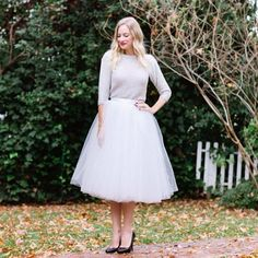 Jupon en tulle : feminine holiday outfit