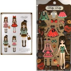 Q-Lia Dolly Dolly Colorforms Stickers with Jewels: Chocolat