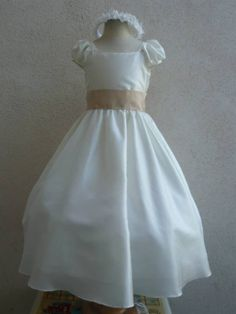 Flower Girl Dress IVORY/Champagne CS Wedding by NollaCollection, $26.00