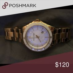 Michael Kors gold watch Stylish gold Michael Kors boyfriend watch. Gently used but in great condition. Needs a new battery. Make me an offer! Michael Kors Jewelry