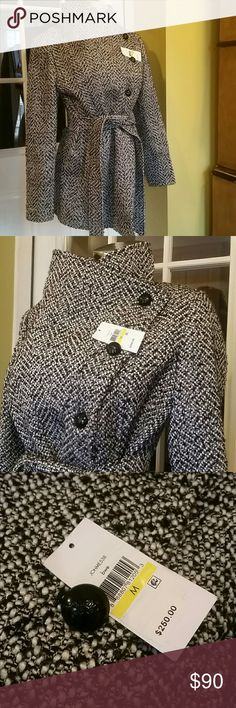 Beautiful classic look Jessica Simpson  coat Worn once,label not attached , but exist , Size M, total length 33 inches , condition  like new,,, Jessica Simpson Jackets & Coats