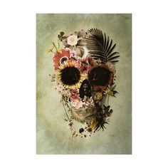 """Though she is but one of billions she holds the cosmos in her bones. Nature and cosmos combine in this wall decal from Ali Gulec's line of skulls entitled, """"The Message.""""..."""