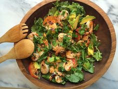 Apricot-Glazed Shrimp & Quinoa Salad - Happily Eva After