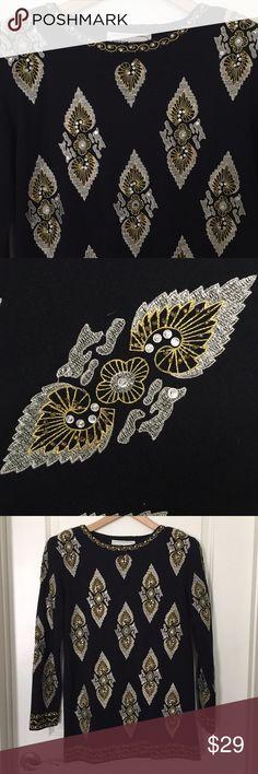 8beb0fa9f6ca Adrienne Vittadini vintage beaded tunic Adrienne Vittadini vintage beaded  tunic