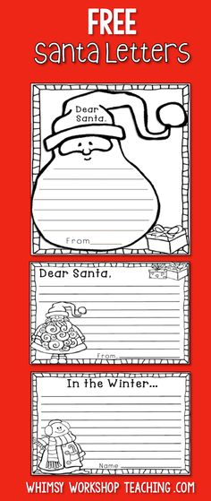 Free Write A Letter To Santa Claus Letter Writing Template