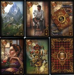 The Gilded Reverie Lenormand - Just arrived in my PO BOX over the Thanksgiving holidays - Delicious!  http://www.ciromarchetti.com/Lenormand.html
