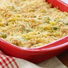 Skinny Baked Broccoli Mac & Cheese- Even picky kids will love this low fat macaroni and cheese with broccoli!