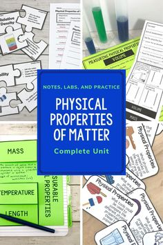 Physical Properties of Matter Activities Bundle 5th Grade Science, Science Student, Elementary Science, Elementary Teacher, Upper Elementary, Elementary Schools, Matter Activities, Sorting Activities, Science Activities