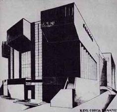 Konstantin Stepanovic Melnikov  Progetto Club Rusakov a Mosca (1927)  Superior sketch