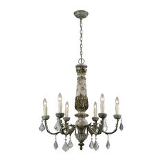 ELK-HOME-1202-005 Round Chandelier, Candle Chandelier, Ceiling Chandelier, Vintage Chandelier, Ceiling Lights, Ceiling Fans, Elegant Chandeliers, Iron Chandeliers, French Country Chandelier