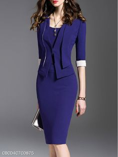 business attire tips Casual Work Attire, Office Attire, Office Outfits, Dress Outfits, Fashion Dresses, Womens Dress Suits, Professional Attire, Business Professional, Business Women