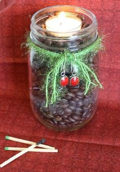 Mason Jar Christmas Candle #DIY ~ Planet Weidknecht