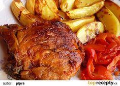 Vepřové kotlety plněné čabajkou recept - TopRecepty.cz Tandoori Chicken, Pork, Turkey, Treats, Ethnic Recipes, Czech Food, Chef Recipes, Cooking, Kale Stir Fry