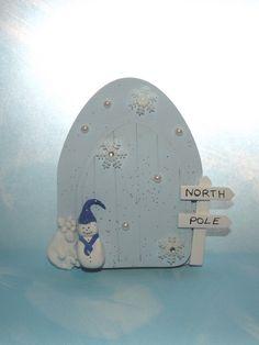 winter fairy door christmas fairy door snow by magikallittlethings