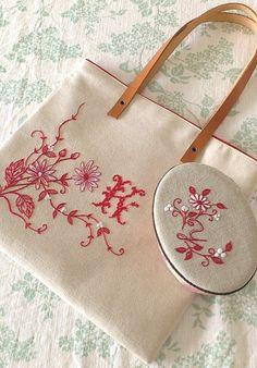 レッドワークのバッグ&お揃いの小箱の作り方|刺繍|編み物・手芸・ソーイング | アトリエ|手芸レシピ16,000件!みんなで作る手芸やハンドメイド作品、雑貨の作り方ポータル