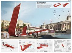 The Trafalgar Relay Olympic Info Pavilion Proposal by Dowling Duncan olympic games Gallery of [AC-CA] Architectural Competition - [LONDON] Olympic Games Information Pavilion Winning Entries - 15 Architecture Panel, London Architecture, Architecture Drawings, Architecture Design, Contemporary Architecture, Architecture Presentation Board, Presentation Layout, Presentation Boards, Serpentine Gallery Pavilion