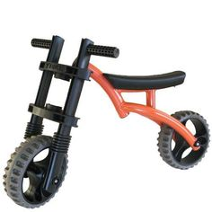 YBIKE Extreme Balance Bike (Orange) by National. $77.53. Balance bike designed to help young kids learn to ride a bike. For ages 3 to 5; measures 33 x 17 x 9.5 inches (W x H x D). All-aluminum, corrosion-resistant frame weighs 7 pounds. Far-forward front wheel creates bigger turning circle. High ground clearance works on almost any terrain. Amazon.com                Start 'em learning to ride at an early age with the orange YBike Extreme balance bike.  The YBike Extreme helps yo...