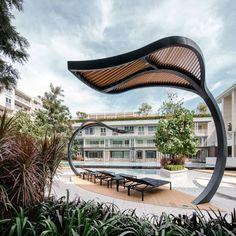 Autumn Huahin condominium by Sansiri. Landscape Architect Sanitas Studio