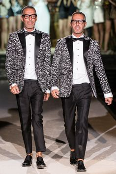 Dan and Dean Caten at their Dsquared² Spring 2014 Ready-to-Wear Collection.