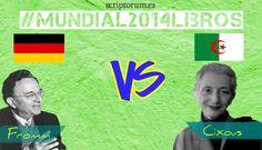 El mundial sigue su curso, esta vez enfrentando a dos equipos convertidos en rivales atípicos, Alemania y Argelia. El fútbol no lo es todo, y si no que les pregunten a Erich Fromm y a Hélène Cixous: http://scriptorum.es/blog/alemania-vs-argelia/
