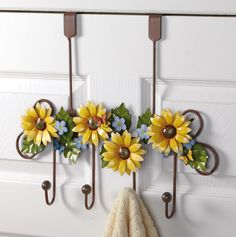 Sunflower Bathroom Door Hanging Hooks
