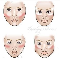 How to Blush, highlight, and contour based on your face shape.