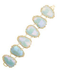 Stone Nest Link Bracelet in Amazonite - Kendra Scott Jewelry. #jewelry #kendrascott #shopsatlegacy