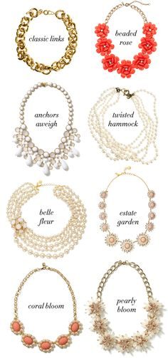 Coral, Gold, and Pearl Statement Necklaces