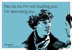 No no no. I'm not insulting you. I'm describing you.
