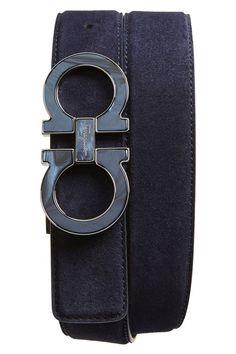 Salvatore Ferragamo Wood Inlay Double Gancio Leather Belt   belts ... 504e1977b0