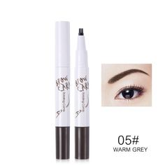 100% Quality Hot Women Pen Eyebrow Pencil Waterproof Eyebrow Comb Brush Makeup Tool Light Coffee Hottest Beauty & Health Makeup