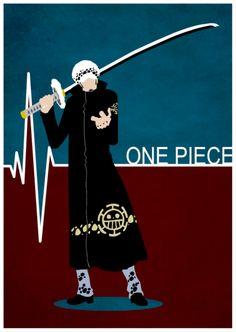 One Piece Minimalist Poster: Trafalgar Law by MinimallyOnePiece.deviantart.com on @deviantART