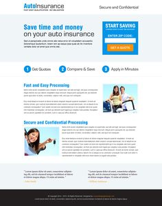 zip lead capture html landing page for your auto insurance business