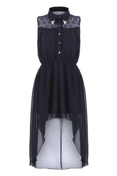 Lace Floral Detailed Anomalous Dress