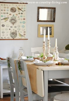 Spring Decorating in a Farmhouse Dining Room