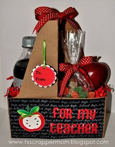 Tx Scrapper Mom: MPS Design Team Day – Teacher Gifts Tx Scrapper Mom: MPS Desig… - christmas presents Teacher Gift Baskets, Teacher Treats, Teacher Valentine, Teacher Christmas Gifts, Valentines, Christmas Presents, Teachers Day Gifts, Teacher Gifts, Little Presents
