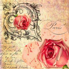 Paris-Ilustraciones con aroma france Decoupage Vintage, Decoupage Paper, Printable Designs, Printable Cards, Vintage Cards, Vintage Paper, Vintage Pictures, Vintage Images, Scrapbook Paper