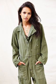 Shop Urban Outfitters at Urban Outfitters today. Military Chic, Military Fashion, 10 Item Wardrobe, Union Suit, Couture Looks, Boiler Suit, Spring Outfits Women, Cool Street Fashion, Elegant Outfit